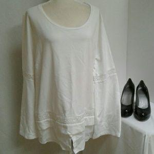 Nwt Crown & Ivy White Tunic Top  Women's Size 3X